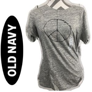 """🍃🖤New Old Navy """"everywhere"""" Peace Soft T-Shirt"""